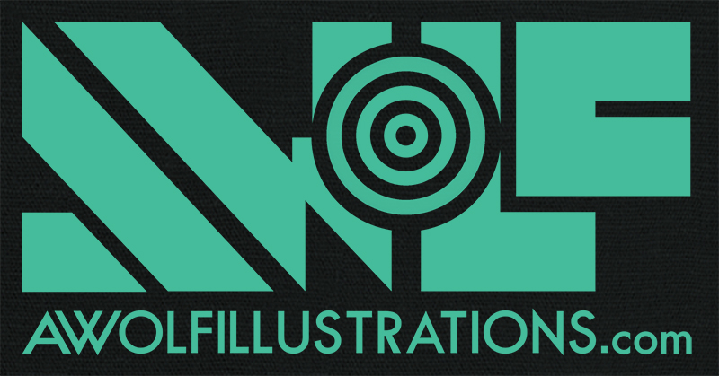 aaron wolf awolf awolfillustrations illustrations art digital artwork photoshop logo design