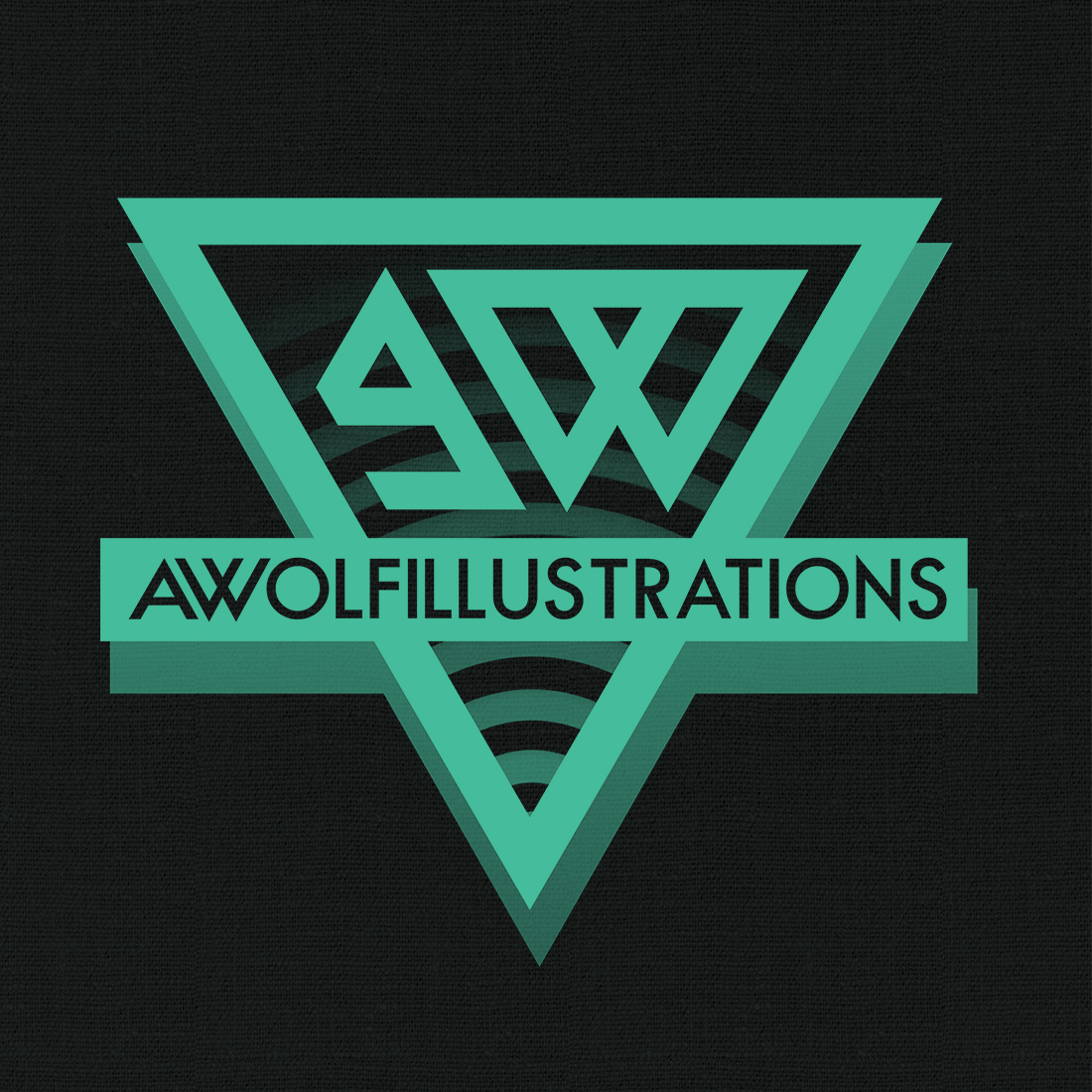 A logo design for Aaron Wolf Awolfillustrations