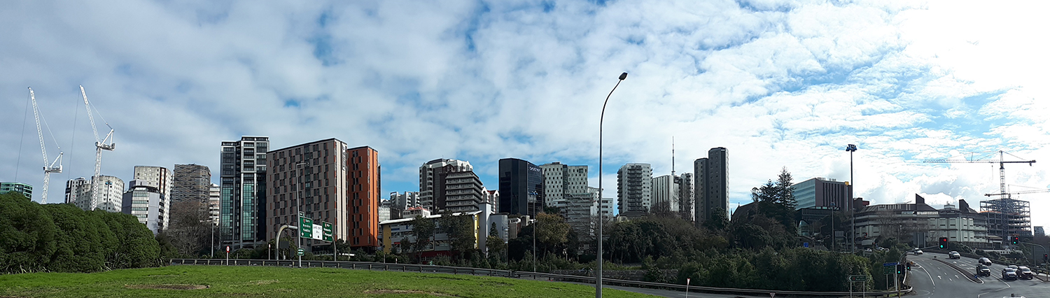 city skyline of Auckland