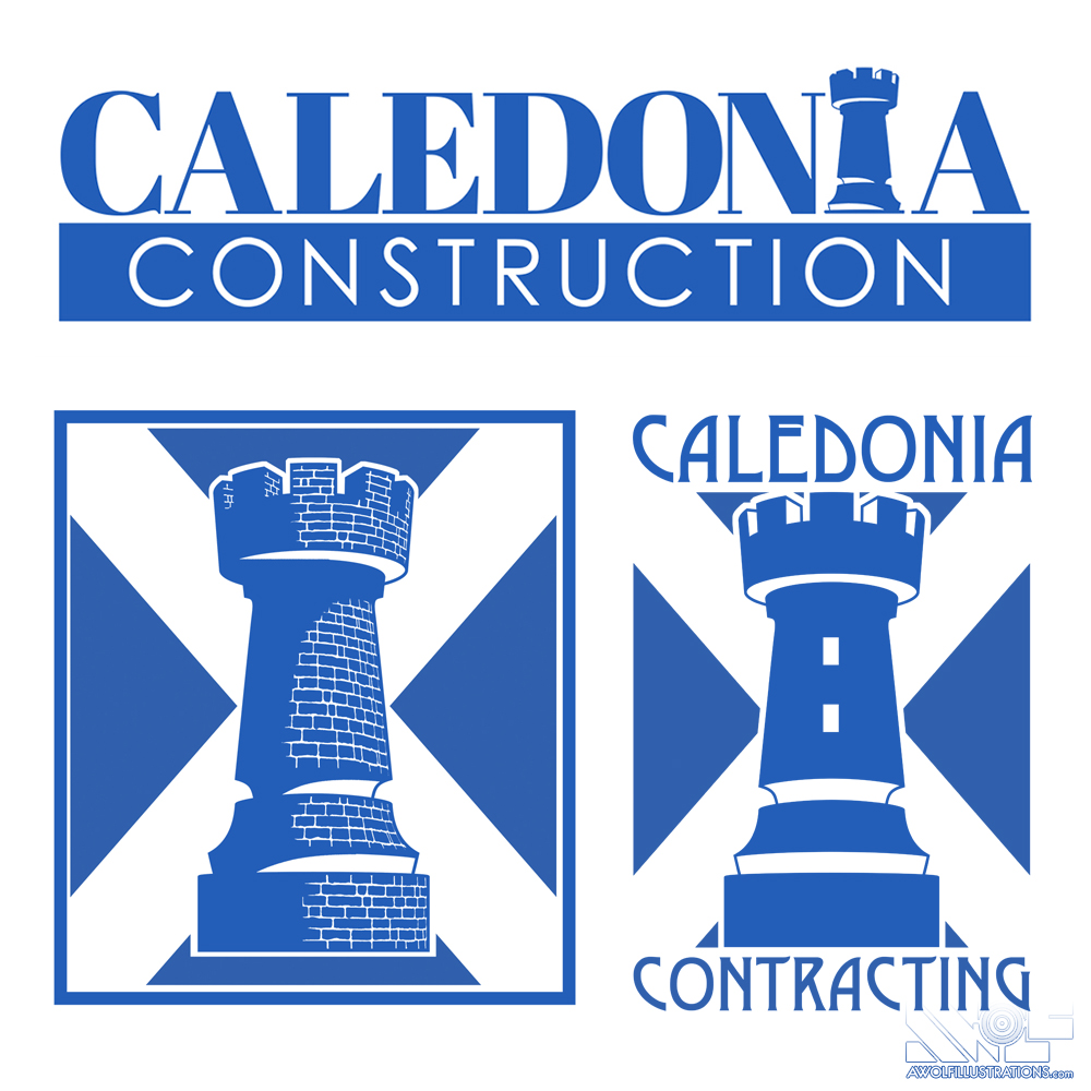 logos that were not used for Caledonia Contracting out of Vancouver Canada