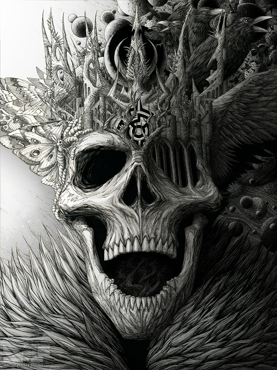 King of the Dead with shading done in Photoshop