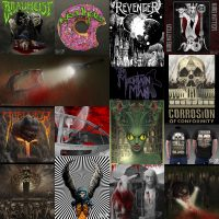 A collage of artwork I have done for heavy metal bands over the last decade including album covers, logos, and poster