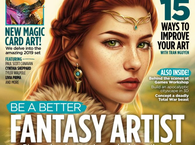 Cover of ImagineFX 166 featuring the artwork of the best digital artists including Aaron Wolf