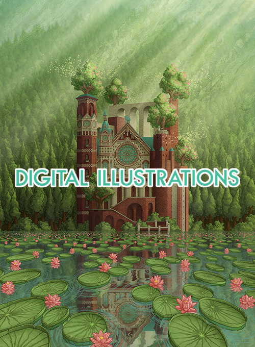 Digital Illustrations link from the front page of awolfillustrations.com