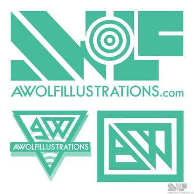 The final version and a couple other designs that I did along the way for an updated logo for my new website