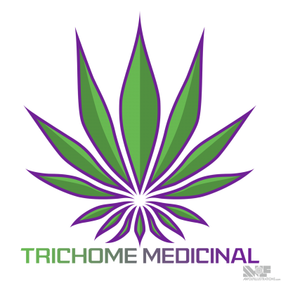 The final logo design, which resembles a fleur de lis for a British columbia company selling pain management supplements