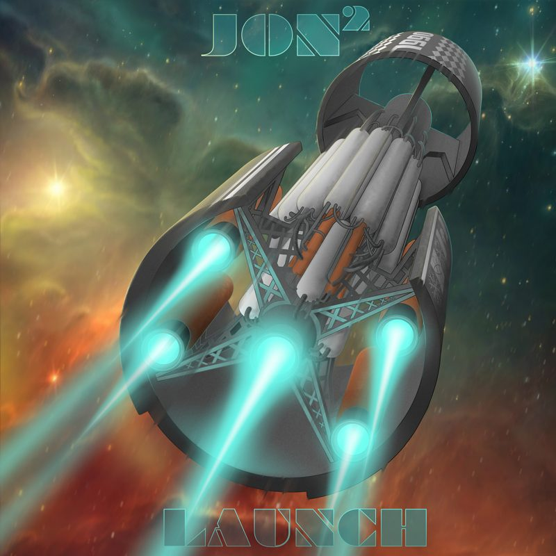 Space travel influenced album artwork for the single LAUNCH by Jon2