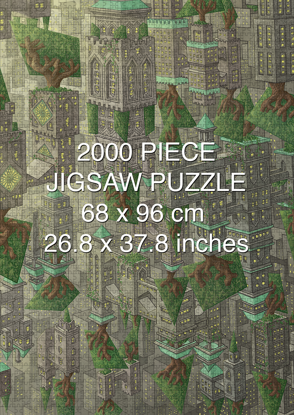 A Delicate Balance: Penrose Heights 2000 piece puzzle by Aaron Wolf and Pandemic Puzzles