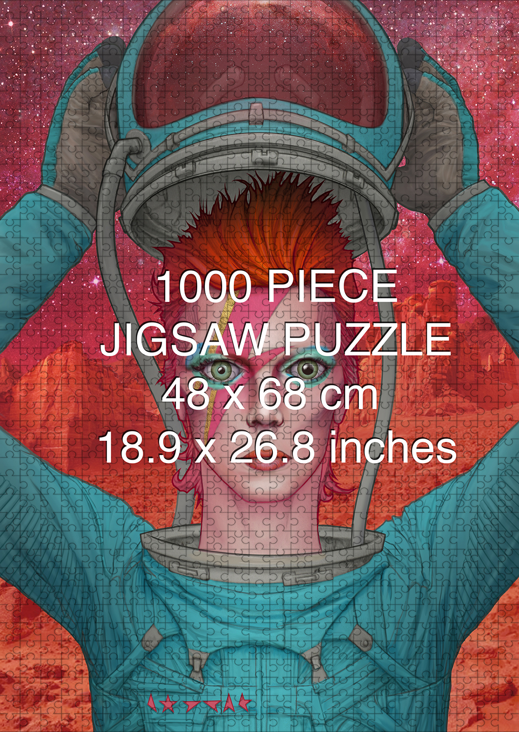 David Bowie: Ziggy Stardust on Mars 1000 piece puzzle by Aaron Wolf and Pandemic Puzzles