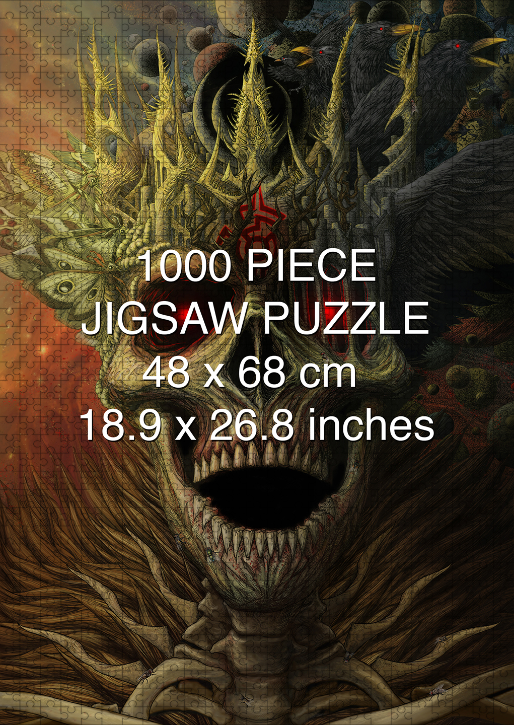 King of the Dead 1000 piece puzzle by Aaron Wolf and Pandemic Puzzles