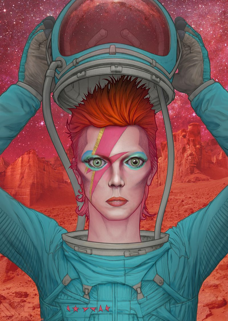 A digital artwork that pays tribute to the greatest artist ever, David Bowie. Available on this website as a jigsaw puzzle by Pandemic Puzzles