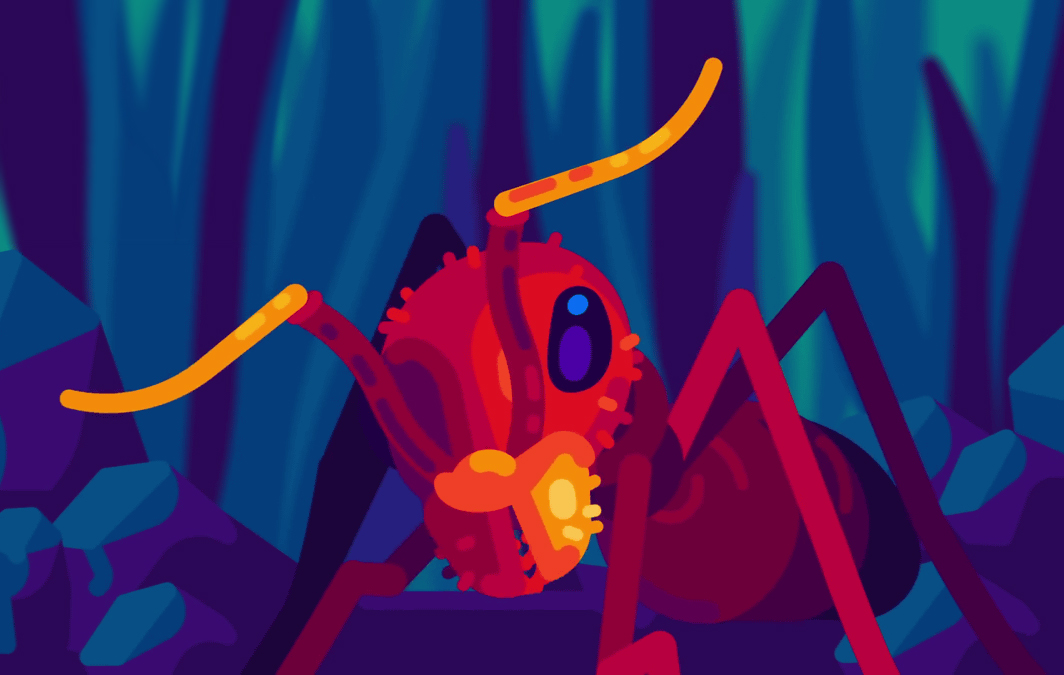 vector image by Kurzgesagt from their series of animated video on ants on Youtube